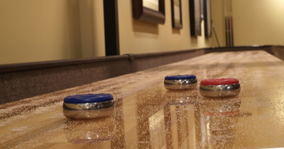 Hickory SOLO® Shuffleboard Installers Image.